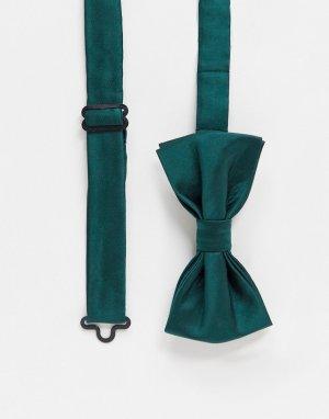 Однотонный галстук-бабочка -Зеленый Gianni Feraud