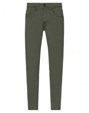 Повседневные брюки HAMAKI-HO. Цвет: темно-зеленый