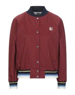 Куртка MAISON KITSUNÉ. Цвет: красно-коричневый