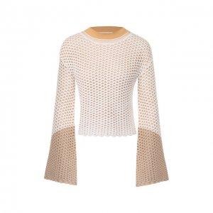 Вязаный пуловер Chloé. Цвет: бежевый