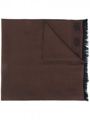 Churchs шарф с вышитым логотипом Church's. Цвет: коричневый