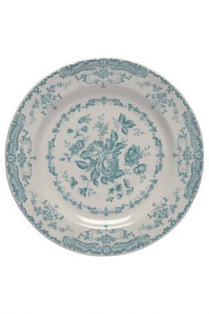 Тарелка обеденная Bitossi. Цвет: голубой