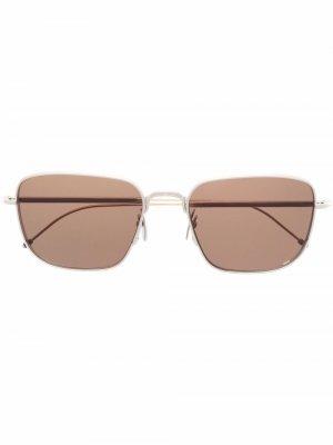 Солнцезащитные очки в квадратной оправе Thom Browne Eyewear. Цвет: серебристый