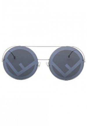 Солнцезащитные очки FENDI. Цвет: синий