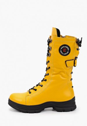 Ботинки Alterego. Цвет: желтый
