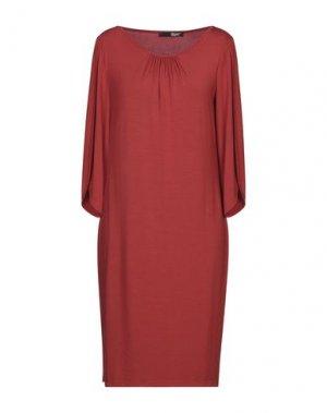 Короткое платье B.YU. Цвет: кирпично-красный