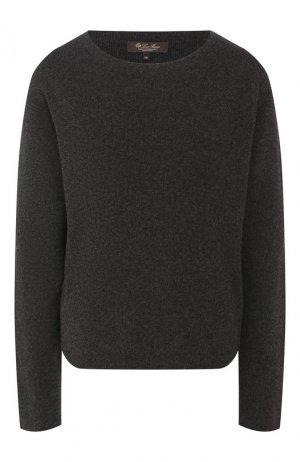 Кашемировый пуловер Loro Piana. Цвет: темно-серый