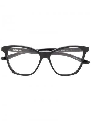 Очки в квадратной оправе Balenciaga Eyewear. Цвет: черный