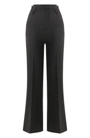 Расклешенные брюки Maison Margiela. Цвет: серый