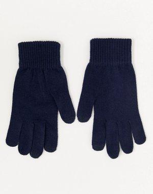 Темно-синие перчатки для сенсорных гаджетов -Темно-синий ASOS DESIGN