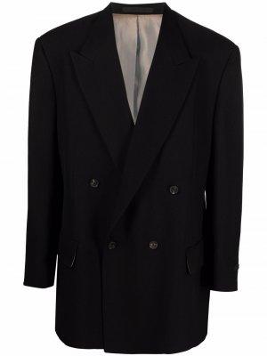 Двубортный пиджак с заостренными лацканами Fear Of God. Цвет: черный