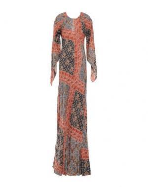 Длинное платье INTROPIA. Цвет: ржаво-коричневый