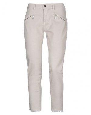 Джинсовые брюки KARTIKA. Цвет: бежевый
