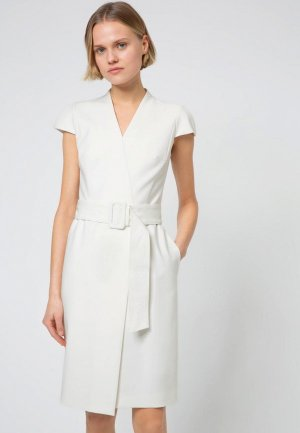 Платье Hugo. Цвет: белый