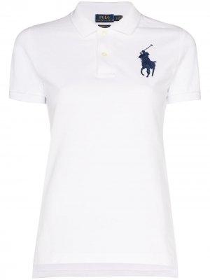 Рубашка-поло с вышивкой Polo Pony Ralph Lauren. Цвет: белый
