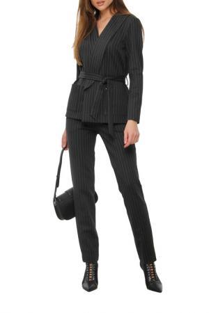 Костюм: пиджак, брюки, пояс AVEMOD. Цвет: темно-серый
