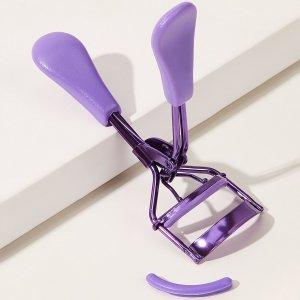 Простой бигуди для ресниц со сменной накладкой SHEIN. Цвет: пурпурный