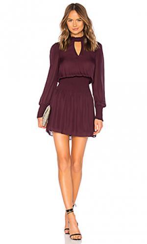 Платье robyn Parker. Цвет: красное вино
