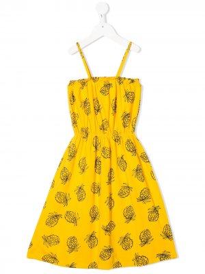 Платье с принтом Bobo Choses. Цвет: желтый