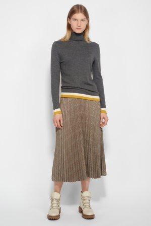 Плиссированная юбка-миди в клетку VASSA&Co. Цвет: серый
