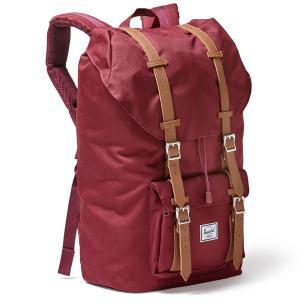 Рюкзак LITTLE AMERICA, 25 л, для ноутбука 15 HERSCHEL. Цвет: бордовый