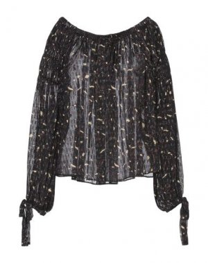 Блузка ULLA JOHNSON. Цвет: черный