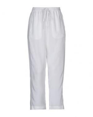 Повседневные брюки ROQUE ILARIA NISTRI. Цвет: белый