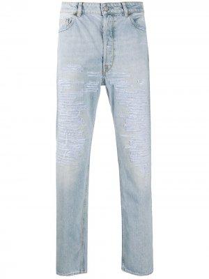 Узкие джинсы с прорезями Golden Goose. Цвет: синий