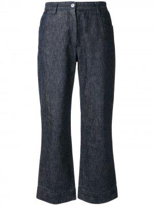 Расклешенные укороченные джинсы 1999-го года Chanel Pre-Owned. Цвет: синий
