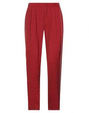 Повседневные брюки CLU. Цвет: красный