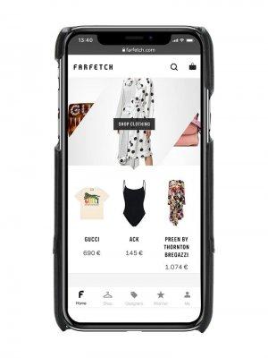 Чехол для iPhone X с логотипом VLogo Valentino Garavani. Цвет: черный