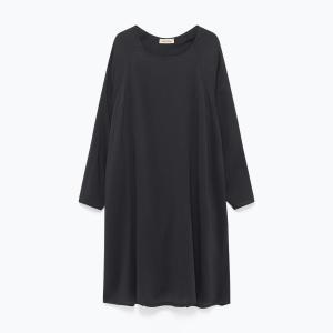 Платье струящееся с длинными рукавами DORABIRD AMERICAN VINTAGE. Цвет: охра,черный