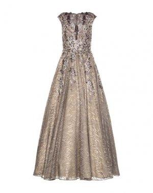 Длинное платье JOVANI. Цвет: хаки