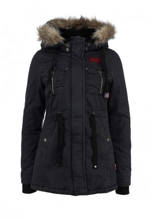 Куртка утепленная Lonsdale. Цвет: серый