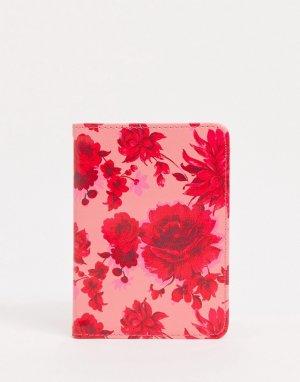 Обложка для паспорта с розовым цветочным принтом Ban Do-Розовый DO