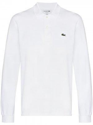 Рубашка поло с длинными рукавами и логотипом Lacoste. Цвет: белый