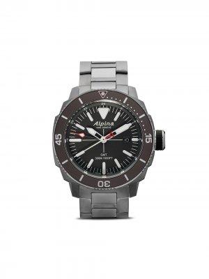Наручные часы Seastrong Diver GMT 44 мм Alpina. Цвет: black