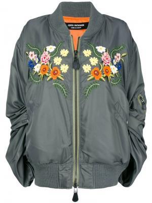 Куртка-бомбер с цветочной вышивкой Junya Watanabe