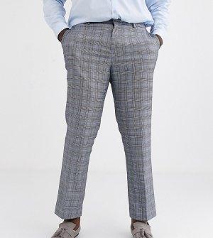 Серые брюки классического кроя в клетку -Серый Jacamo