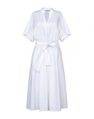 Платье длиной 3/4 FLY GIRL. Цвет: белый