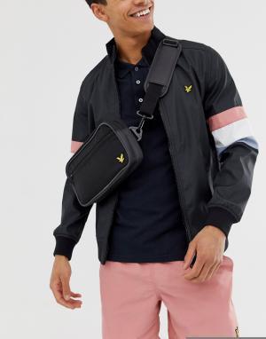 Черный спортивный кошелек на пояс Lyle & Scott Fitness. Цвет: черный