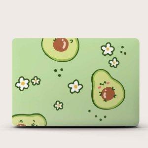 1 лист 15 дюймов Защитная наклейка для ноутбука с принтом авокадо SHEIN. Цвет: многоцветный