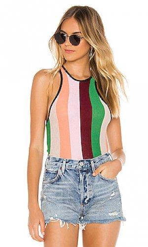 Майка sherbet stripes royce Wildfox Couture. Цвет: розовый