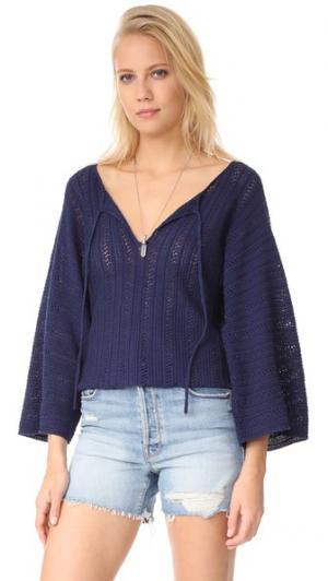 Вязаный свитер Caprisa Ella Moss. Цвет: темно-синий