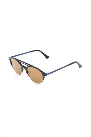 Очки солнцезащитные с линзами Italia Independent. Цвет: 053 022 синий, белый, красный