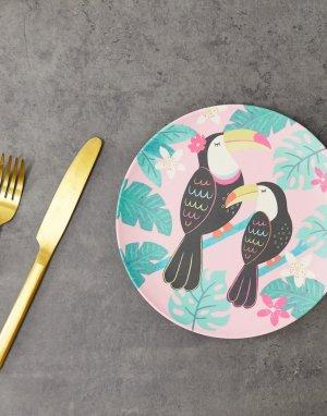 Бамбуковая тарелка Tiki Toucan-Мульти Sass & Belle