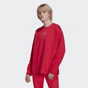 Хлопковый лонгслив by Stella McCartney adidas. Цвет: розовый