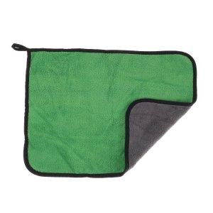 Салфетка для автомобиля cartage, микрофибра, 350 г/м², 30×40 cм, зелено-серая Cartage