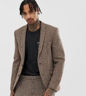 Темно-серый приталенный пиджак из твида Харрис Heart & Dagger