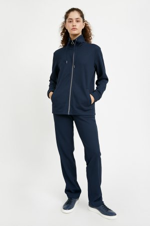 Олимпийка женская Finn-Flare. Цвет: темно-синий